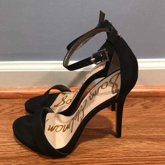 ec4b1adec38218 Sam Edelman Shoes - Sam Edelman black crepe Eleanor sandals size 7.5